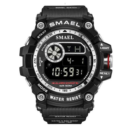 Foto Produk Jam tangan smael 8010+jam tangan led+jam tangan sport - Hitam putih dari Yureka899