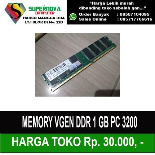 Foto Produk Memory RAM PC DDR1 1GB PC 3200 400Mhz V-Gen dari Supernova Computer Ariet