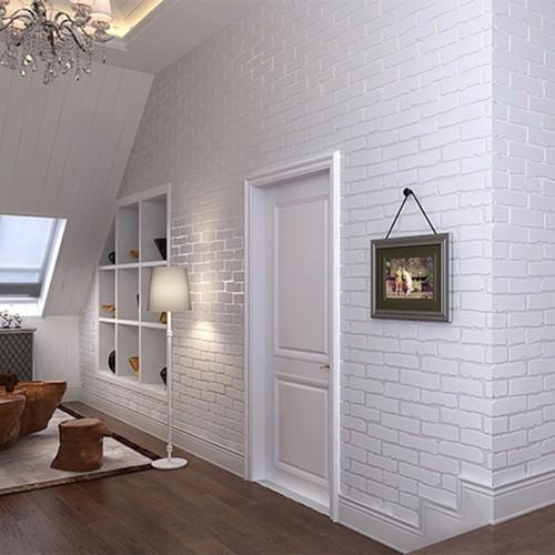 Jual Self Adhesive Wallpaper Modern White Brick Wall Sticker Living Room Jakarta Barat Serba Ada Shop Tokopedia