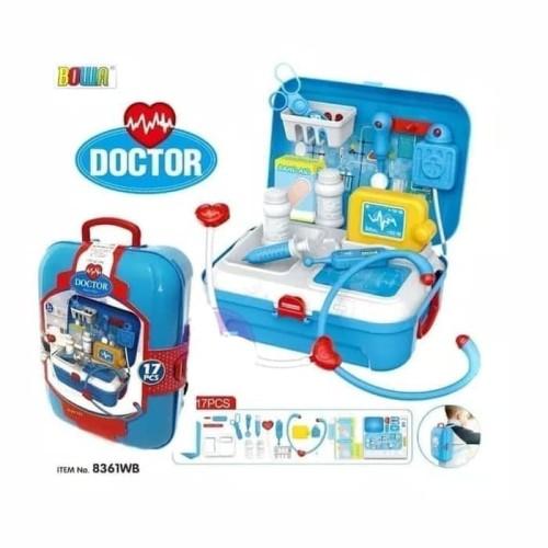 Foto Produk DOCTOR BACKPACK PLAYSET Mainan Edukasi Anak Koper Set Dokter Dokteran dari GOGO57