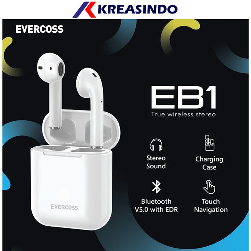 Foto Produk Evercoss EB1 Earbuds Earphone Wireless Bluetooth Garansi Resmi dari Kreasindo Online