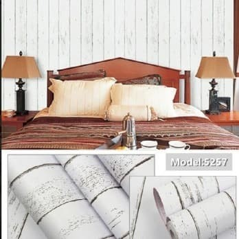 Foto Produk Home Wallpaper Sticker Dinding Kayu Putih - 45cm x 10 m dari homewallpaperr