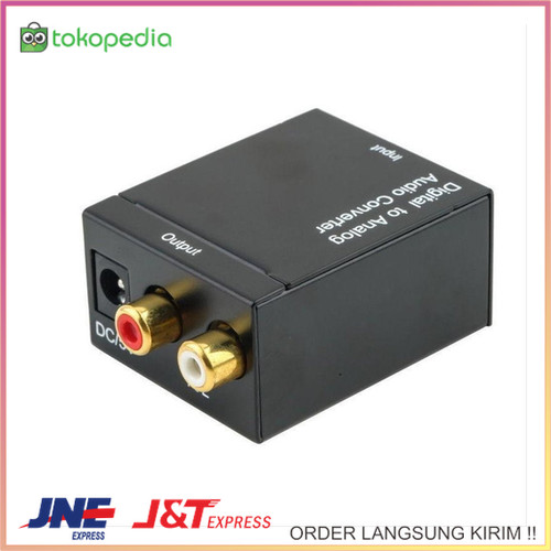 Foto Produk Adapter Converter Digital Optical Toslink SPDIF Coax to Analog RCA dari TORNADO-SHOP