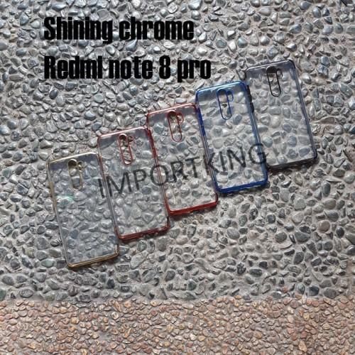 Foto Produk Redmi note 8 pro SHINING CHROME TPU CASE CLEAR Silicone Case dari importking