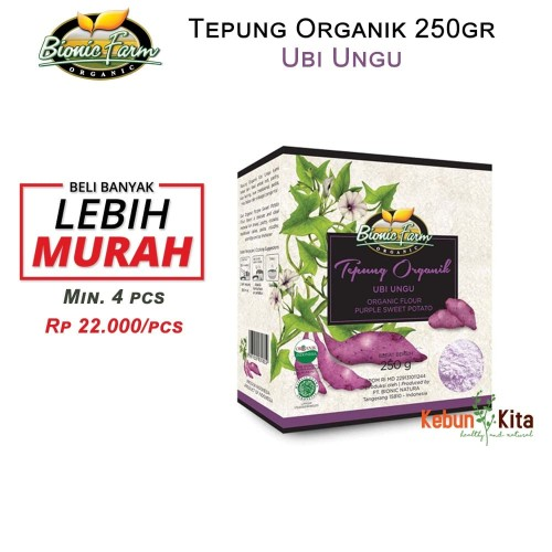 Foto Produk Tepung Organik Ubi Ungu 250gr ( Organic Flour ) dari Kebun Kita