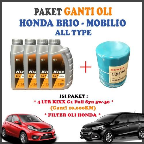 Jual Paket Ganti Oli Honda Brio Mobilio All Type Kixx G1 5w30 Dan Kota Surabaya Mermaidshoops Tokopedia