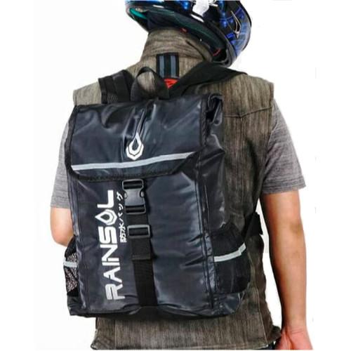 Foto Produk Tas Ransel Laptop Waterproof / Mezzo Rainsol Backpack - Hitam dari PITUDUS