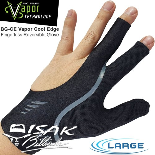 Foto Produk Vapor Cool Edge Glove L - Grey Reversible Sarung Tangan Pool Billiard dari ISAK Billiard Sport Co.
