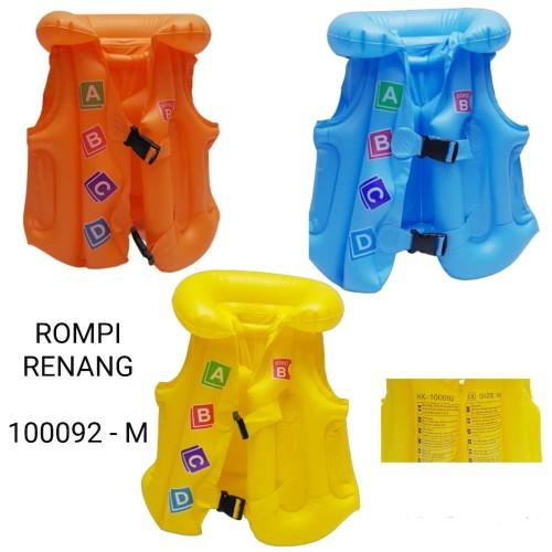 Foto Produk rompi renang pelampung anak swim vest swimming ukuran m - Orange dari Pusat Grosir OLAHRAGA