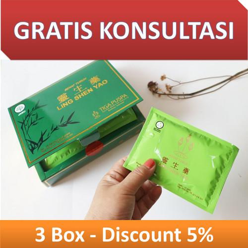 Foto Produk Ling Shen Yao Serbuk Obat Kista dan Obat Miom - 3 Box dari ancos