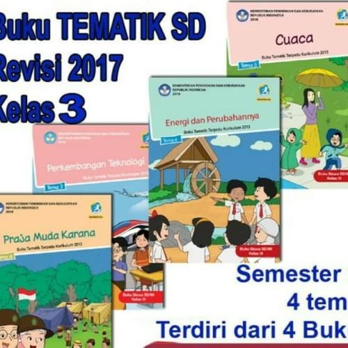 Foto Produk sepaket buku dikbud tematik k13 kelas 3 tema 5,6,7,8 revisi 2018 dari wahanaagung depok books