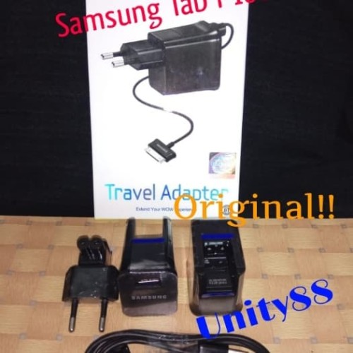 Foto Produk Charger Samsung Galaxy Tab Original 100% Tab 1 Tab 2 N8000 P1000 P3100 - Hitam dari Unity88GrosirAcc