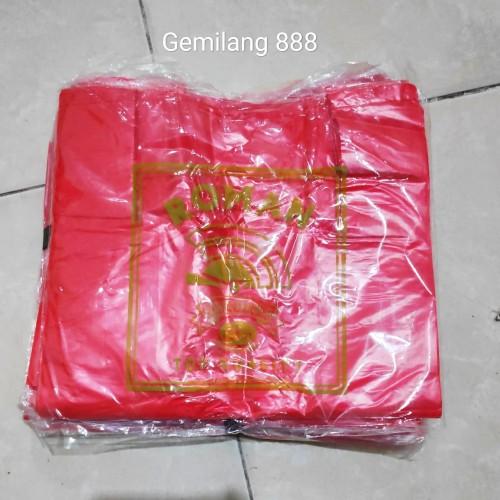 Foto Produk HD merah tipis uk 28 | Kantong plastik kresek merah tipis dari Gemilang 888
