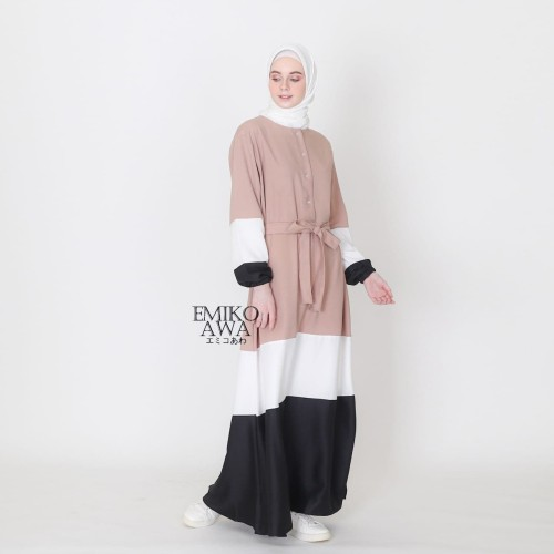 Foto Produk Baju Gamis Belanie - Emikoawa Dress Muslim Wanita Maxy BUSUI Jepang - COKSU dari emikoawa