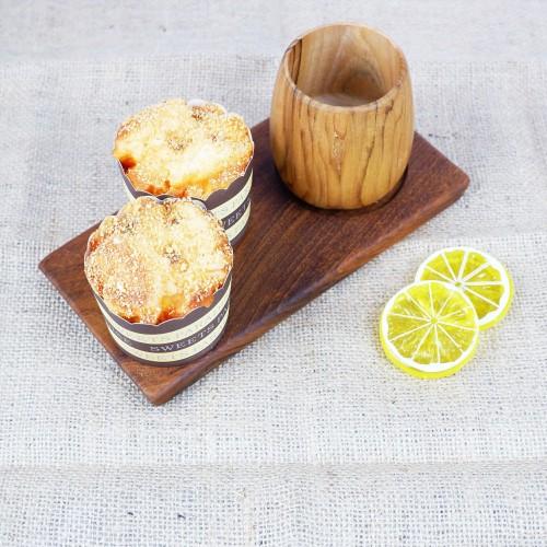 Foto Produk Bharat | tatakan gelas tray kayu hotel restaurant dapur saji coaster dari Mendekor