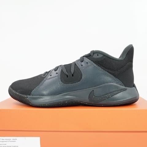 Foto Produk Sepatu Basket Nike Flyby Mid Black Metallic Gold CD0189-004 Original dari KING OF DRIBBLE
