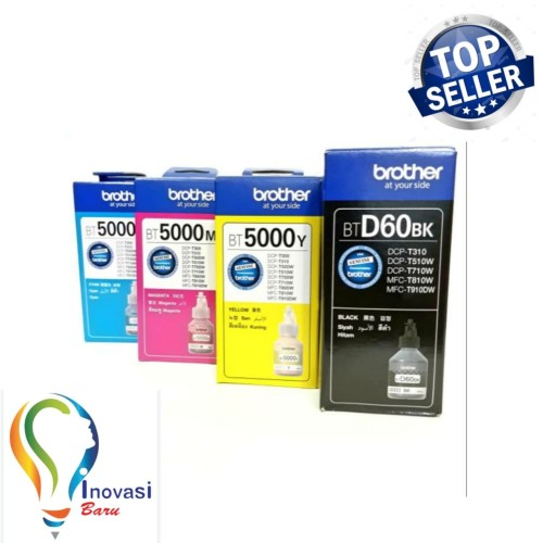 Foto Produk Tinta brother BTD60BK & BT5000 1set/4 pcs for DCP T310 T510W dari INOVASI BARU COM