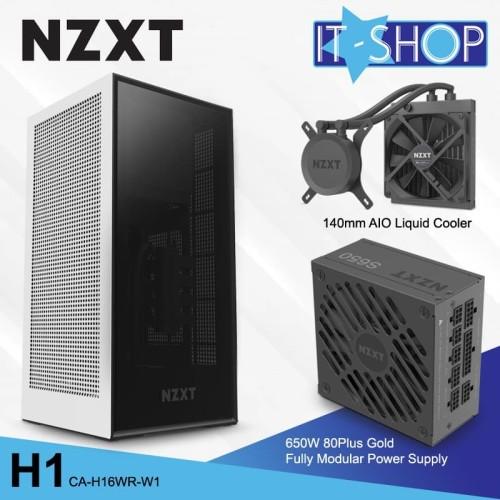 Foto Produk NZXT Casing Gaming H1 White Matte dari IT-SHOP-ONLINE