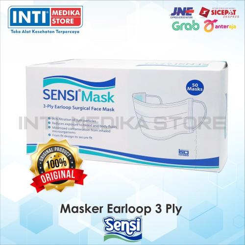 Foto Produk SENSI - Masker Earloop Sensi 3 Ply | Masker Karet Sensi | Masker Sensi dari INTI MEDIKA STORE