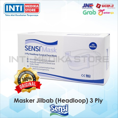 Foto Produk SENSI - Masker Jilbab Sensi 3 Ply | Masker Sensi | Masker Headloop dari INTI MEDIKA STORE