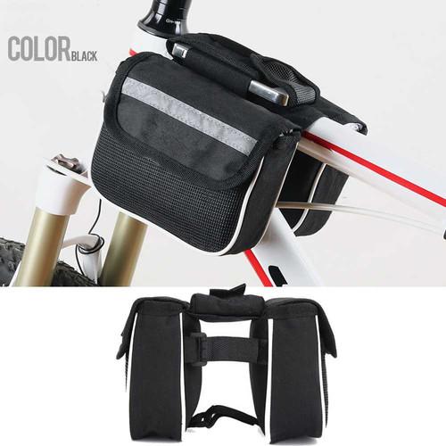 Foto Produk Tas Sepeda Merida Mountain Bike Tube Bag Saddle Pack Waterproof Double - Putih dari lbagstore