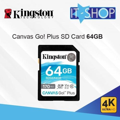 Foto Produk Kingston Canvas Go Plus 4K SD Card - 64GB dari IT-SHOP-ONLINE