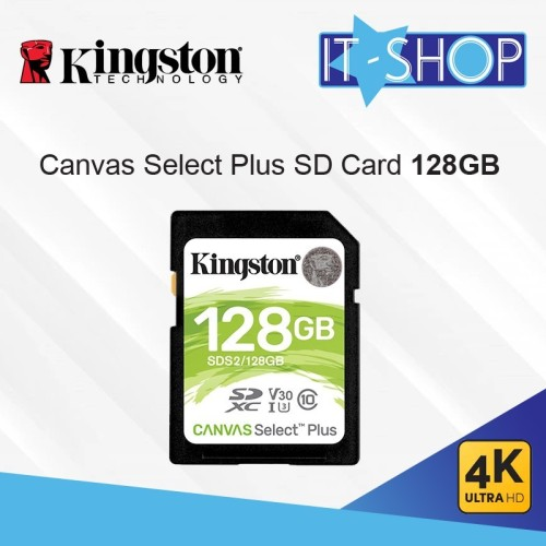 Foto Produk Kingston Canvas Select Plus SD Card - 128GB dari IT-SHOP-ONLINE