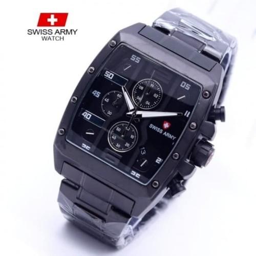 Foto Produk jam tangan SWISS ARMY PRIA KOTAK CHRINI MAN STYLE STAINLESS STEEL dari Multyshop MSI