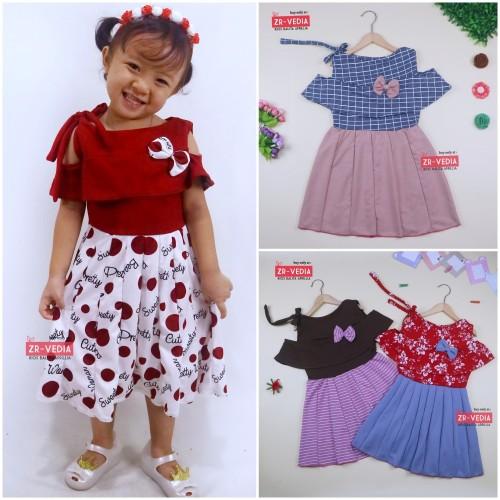 Foto Produk Dress Rachel uk 4-5 Tahun / Dres Model Baju Anak Perempuan Gaun Pesta dari ZR-Vedia