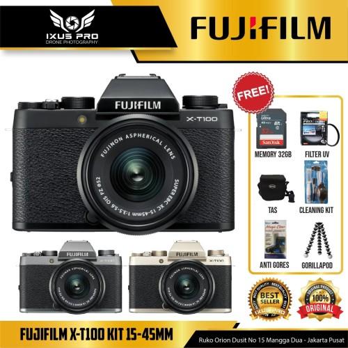 Foto Produk FUJIFILM X-T100 KIT 15-45MM - FUJI XT100 - XT 100 PAKET BONUS ACC dari ixuspro