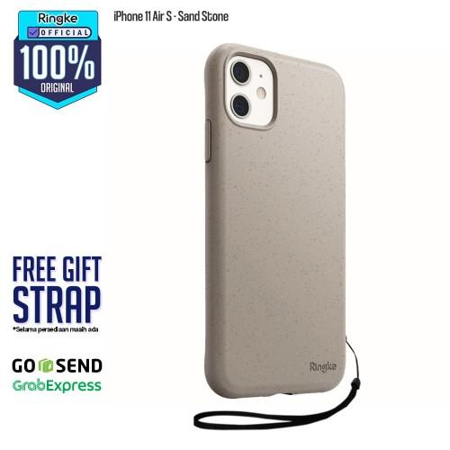 Foto Produk Rearth Ringke iPhone 11 Air S SoftCase AntiCrack Original - Sand Stone dari Official Ringke Partner