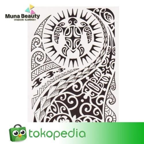 HB577 TATO TEMPORER Temporary Tatoo sticker palsu WOLF SERIGALA 2
