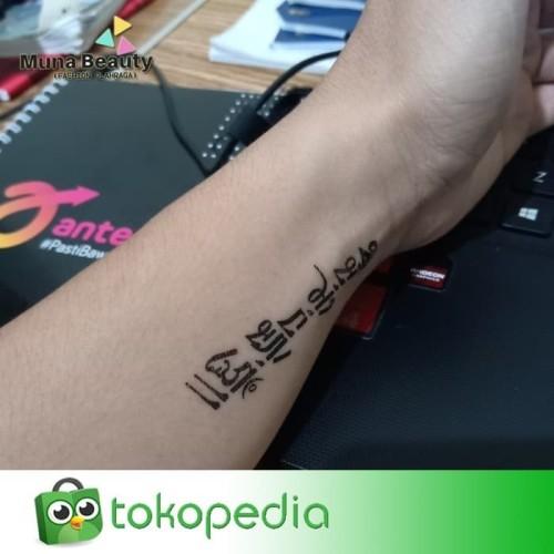 QC-809 TATO TEMPORER Temporary Tatoo sticker tulisan Word love 3