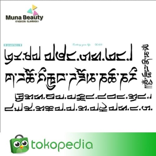 QC-809 TATO TEMPORER Temporary Tatoo sticker tulisan Word love 2