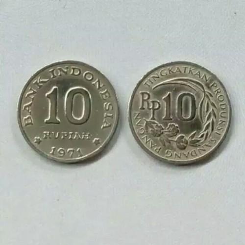 Foto Produk uang koin 10 rupiah kecil dari maharpare
