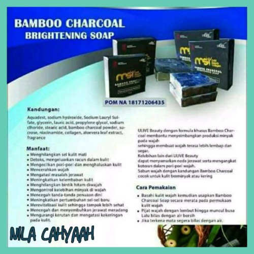 Jual Grosir Bamboo Charcoal Brightening Soap Msi Sabun Muka Pembersih Obat Jakarta Barat Nila Cahyaah Tokopedia