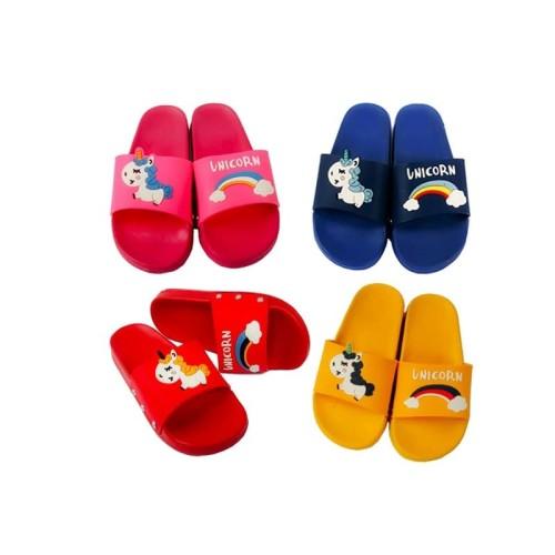 Foto Produk Sandal Selop Anak / Sandal Anak Karakter Unicorn Size 28-35 - 29, Merah dari Mr Fath