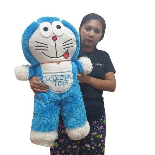 Foto Produk (UKIR NAMA di KANTONG) boneka doraemon berdiri xl 65cm dari luckyzhum toys