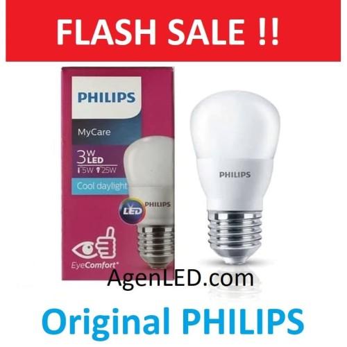 Foto Produk PHILIPS Lampu LED bohlam 3 watt 3w / Philip Putih 3 w Bulb LED 3watt dari AgenLED