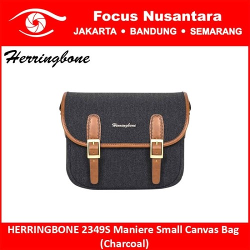 Foto Produk HERRINGBONE 2349S Maniere Small Canvas Bag (Charcoal) dari Focus Nusantara
