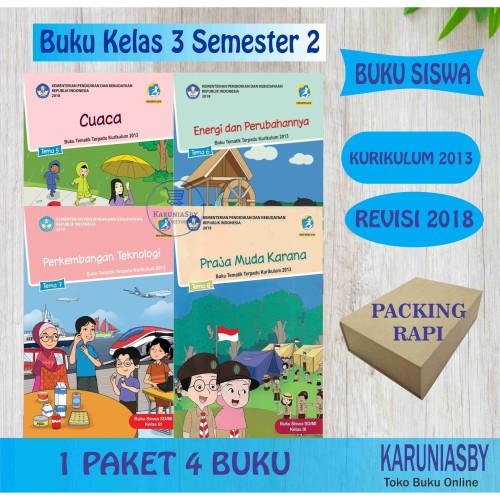 Foto Produk Kelas 3 Tema 5678 - Semester 2 - Revisi 2018 Terbaru - paket 4 buku dari karuniasby