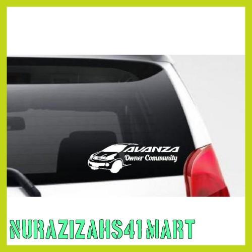 Jual Ready Stiker Avanza Owner Community Mobil Motor Body Kaca Belakang Jakarta Pusat Nurazizahs41 Mart Tokopedia