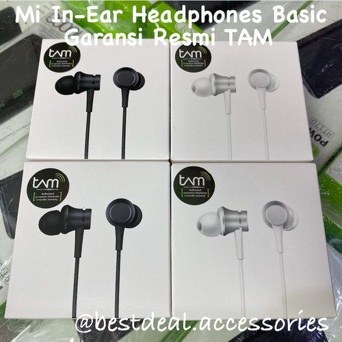 Foto Produk Xiaomi Mi In Ear Headphones Basic - Mi Earphone Basic Resmi TAM - Hitam dari bestdeal official