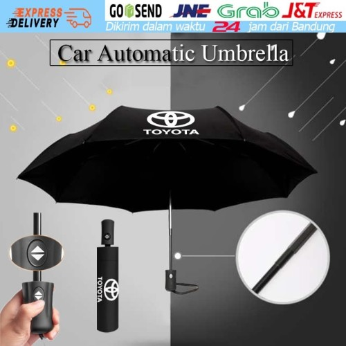 Foto Produk Toyota Car Logo Wind Resistant Three Folding Automatic Umbrella dari Soya Global