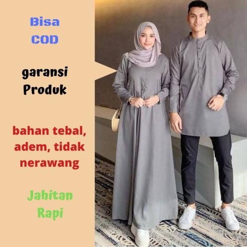 Jual Whs Gamis Couple Suami Istri Terbaru Baju Kondangan Carolin Couple Jakarta Barat Mandiri Jaya 77 Tokopedia