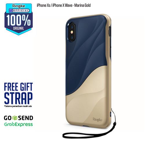 Foto Produk Ringke iPhone X Xs Wave Casing Soft Case Anti Crack Anti Drop Original - Marina Gold dari Official Ringke Partner