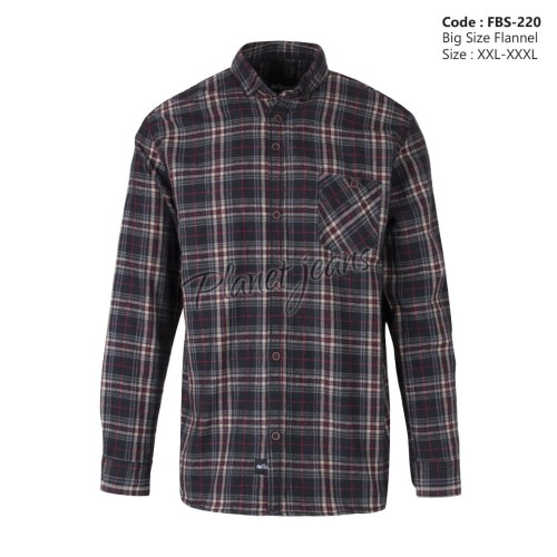 Foto Produk Kemeja Flanel Big Size / Ukuran Besar XXL , XXXL Flannel Jumbo -FBS51 dari Basic Shirt