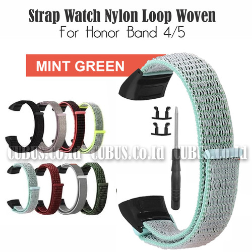 Foto Produk Costa Strap Watch Nylon Loop Woven For Honor Band 4/5 - Mint Green dari Cubus_Co_ID