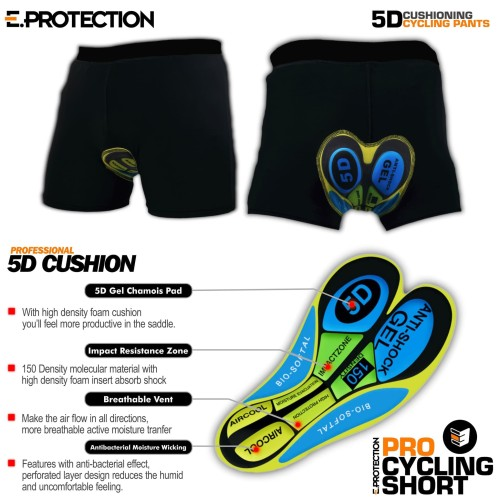 Foto Produk Celana sepeda Padding Gel Eprotection - L dari eibag-indonesia