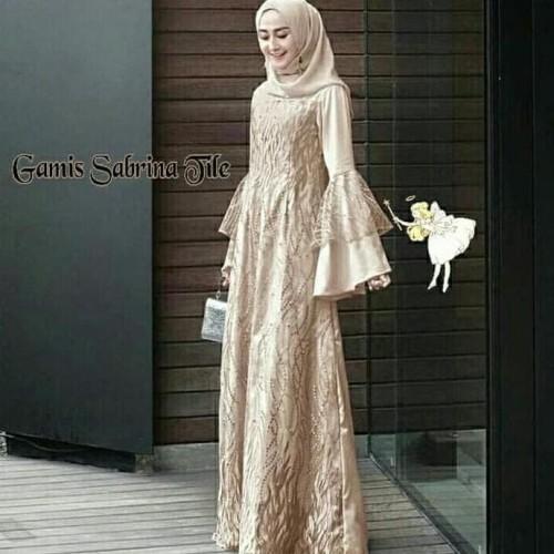 Jual Gamis Sabrina Tile Mocca Maxi Dres Baju Muslim Gamis Wanita Terbaru Jakarta Timur Cintarasul Tokopedia